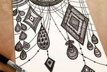 Zentangle / Inky doodling is suddenly in vogue? Who knew?