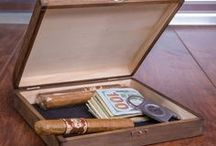 Cigar Humidors / Store your finest cigars in this humidor along with any accessories. Use this case for yourself, gift to a significant other or business clients.