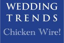 Hot Wedding Trend for 2013: #6 Chicken Wire / This is the 6th of 10 of the hottest wedding trends for 2013 that will be shared every Wednesday at www.3d-memoirs.com! You don't want to miss out on these fabulous wedding trend forecasts shared by guest blogger, Gail Oliver (OliverInk Etsy Shop)! Please see more chicken wire ideas at http://bit.ly/LPxVFC.