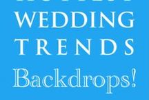 Hot Wedding Trend for 2013: #8 Backdrops / This is the 8th of 10 of the hottest wedding trends for next year that will be shared every Wednesday at www.3d-memoirs.com! You don't want to miss out on these fabulous wedding trend forecasts shared by guest blogger, Gail Oliver (OliverInk Etsy Shop)! Please see more backdrop inspiration & ideas at http://bit.ly/Nzo9Fx