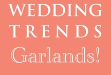 Hot Wedding Trend for 2013: #9 Garlands / This is the 9th of 10 of the hottest wedding trends for next year that will be shared every Wednesday at www.3d-memoirs.com! You don't want to miss out on these fabulous wedding trend forecasts shared by guest blogger, Gail Oliver (OliverInk Etsy Shop)! Please see more garland inspiration & ideas at http://bit.ly/NJQQBa