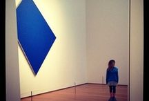 Dear Ellsworth, / Thanks for inspiring and challenging us. Ellsworth Kelly, Blue Panel, 1980 Oil on canvas, 109 1/2 x 95 in.