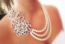 Wedding Jewelry / #Wedding #Jewelry for #Brides #Bridesmaids #Flowergirls Jewelry for Traditional Weddings  (primarily white, crystal, pearl, etc.)