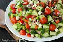 Recipes ● Salads and Dressings / Fresh and delicious salads and dressings! / by a farmgirl's dabbles