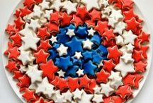 Holidays • 4th of July Recipes + Fun Ideas / Everything in right, white, and blue...Happy 4th of July!