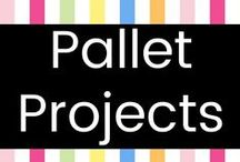 Pallet Projects / You can make beautiful stuff out of FREE old pallets just laying around businesses and industrial areas! Just make sure you ask permission first. ;-)