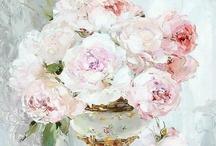 Flower art, cards & illustrations