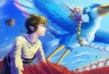The Legend Of Zelda: Skyward Sword / The Legend of Zelda: Skyward Sword (ゼルダの伝説 スカイウォードソード Zeruda no Densetsu: Sukaiwōdo Sōdo?) is the sixteenth installment of the Legend of Zelda series, developed by Nintendo for the Wii. The events of the game take place in Skyloft and the surface. Although many places are similar to known landmarks in other Zelda installments most are unconfirmed. Because this is the earliest setting of any Legend of Zelda game it is likely that these places are the originals. / by Kylie Hyrule