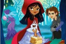 Grimmtastic Girls book series / Fairy Tale girls have adventures at Grimm Academy. Little Red Riding Hood - Cinderella - Rapunzel - Snow White - Goldilocks - Sleeping Beauty