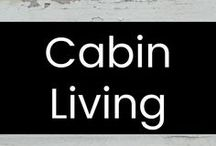 Cabin Living / I love the idea of having a cozy and beautiful log cabin, off the grid and away from everything & everyone. :-)