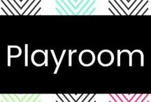 Playroom / There's no reason why a playroom can't be pretty and nice for grow ups to enjoy too!