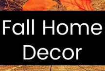 Fall Home Decor / Classy, sophisticated, tasteful home decor inspiration for Fall & Halloween...no gory stuff here! Just cute and classy! :)