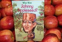 Johnny Appleseed / Johnny Appleseed apple activities and Johnny Appleseed lesson plans for fall. Who Was Johnny Appleseed? is part of the Grosset & Dunlap 'big head' chapter book biography series for kids.