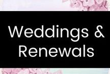 Weddings/Renewals / Ideas for vow renewal ceremonies & weddings.