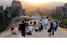 """Travel to Meteora, Greece / Discover one of the largest and most important complexes of Greek Orthodox monasteries in Greece! Hike through the majestic Meteora """"rock forest"""", see the best monasteries and experience the most captivating views!"""