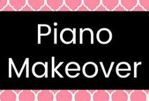 Piano Makeover / Painting an old piano to make it part of your home decor.