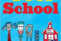 Tool School picture book / Tool School picture book activities and lesson plans. It's the first day of school for Hammer, Screwdriver, Tape Measure, Saw, and Pliers! Scholastic picture book by the New York Times bestselling team, Joan Holub and James Dean.
