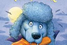 Vampoodle / Dog Halloween costumes. Tips for Trick or Treating with your dog. Vampoodle is a Random House early reader about a poodle and puppy friends in a dog parade.