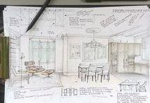 Interior Design Client Presentations / Ideas for presenting your interior design plan to your interior design clients in your interior design business.  Design boards, mood boards, design schemes and more