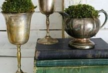 Metal ACCENTS / Bringing beautiful metals and tarnished patinas into the home.
