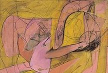 Willem de Kooning / Willem de Kooning (b. April 24, 1904, d. March 19, 1997) is a pioneering figure of Abstract Expressionism and one of the most influential artists of the twentieth century. Born on April 24, 1904, in Rotterdam, de Kooning would become recognized as a leader of the New York school by the 1950s. Moving seamlessly from figuration to abstraction—and at times working simultaneously in both—de Kooning's work underwent radical stylistic shifts from decade to decade, continuously evolving and refining.  / by Pace Gallery
