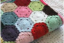 Gehaakte dekens. Crochet blankets / Dekens, plaids.  Blankets