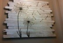 Pallet en Steigerhout ideeën DIY / Maak het zelf  met hout.