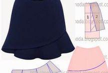 Modelagem / Moldes para costura.