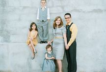 Photography - Clothing ideas for family photos / These are some examples of how to dress and what color scheme would suit families for their family photo session