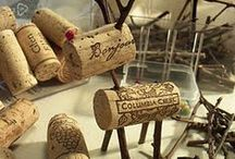 Bottle Caps and wine corks / recylced art