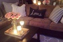 Living Room Inspiration / Living room, sitting room, lounge decor ideas & inspiration. Wall decor www.whimsicalmumblings.co.uk