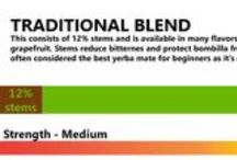BLENDS OF YERBA MATE / On market we can find different blends of Yerba mate.
