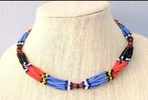Necklace Beadwork Women Roots of South Sudan / All proceeds support the women of South Sudan. www.rootsofsouthsudan.com