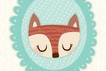 Happy foxes