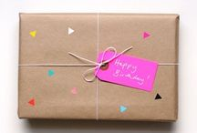gift wrapping & paper love / Lots of gift wrap, wrapping paper, twine, ribbon, cards, more