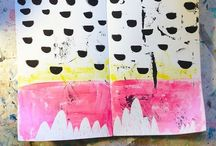 art journals / visual diaries / Art journals, visual dairy, collage, ideas and expressions