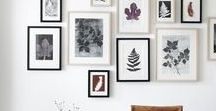 gallery wall and framing ideas / Inspiration on how to hang artwork and types of frames. Gallery wall and grouping artwork ideas. Home decor, home styling, interior styling