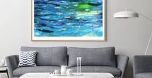 semi abstract art by printspace / Original art work, paintings and limited edition prints by Nicholas Girling, Printspace. Affordable artwork to fill your home with colour. Made in Melbourne Australia.