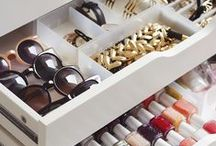 Organization Tips + Ideas / A few pins to inspire and create an organized life.