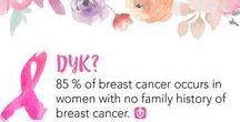 Breast Cancer Awareness / Since October is Breast Cancer Awareness month, we will be adding a new breast cancer fact each day.