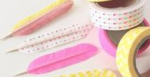 washi / Washi tape crafts, inspiration and DIY projects