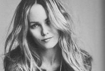 """Vanessa Paradis / """"Well, my type is obviously creative. Creative, with burning eyes and a pretty mouth"""".- Vanessa Paradis  / by Hallel Fraga"""