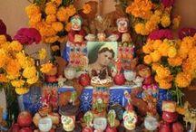 floral design   Día de los Muertos
