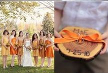 Outrageous Orange Weddings / Orange Wedding Inspiration! I was inspired to see how you are incorporating different shades of orange in your weddings. Here is a collection of a few of my favorites I've seen along the way. XXOO, Kristin with Kristin Hornberger Photography: www.kristinHphotos.com / by Kristin Hornberger Photography