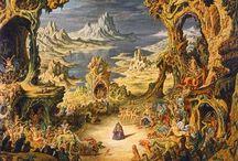 Johfra / Gallery in de Leidsestraat Amsterdam jaren '80 zag ik voor het eerst het werk van Johfra. Wekelijks bezocht ik de gallery.    Johfra, werkelijke naam: Franciscus Johannes Gijsbertus van den Berg, was een Nederlands kunstschilder, die van 1964 tot aan zijn dood in 1998 in Frankrijk heeft geleefd en gewerkt.