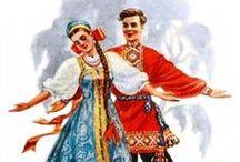 Russian etnic dresses