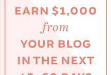 Blog Monetization / How to make money blogging.