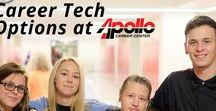 Apollo's Career Tech Options / Apollo Career Center offers many career options for high school students to prepare them to either enter the workforce after graduation or continue your education in a technical college or university.