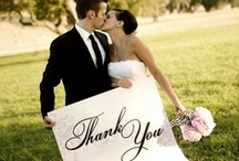 "Wedding Thank Yous / There is no better way to say ""Thank You"", than to...well, say it! Use a sign or a hand gesture, but don't forget to show your friends and family how much their support meant on your wedding day."