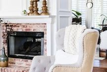 Fireplaces & Mantels / Beautiful Fireplace and Mantel Designs - both real and faux